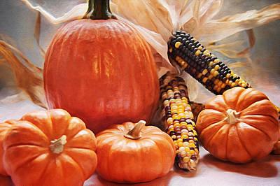 Fall Harvest - Thanksgiving Still Life Poster by Steve Ohlsen