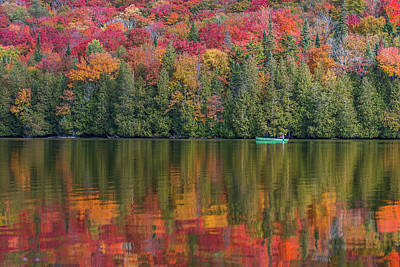 Fall In A Canoe Poster