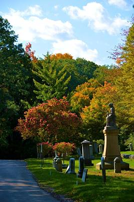 Fall In Mount Hope Cemetery 1 Poster by Richard Jenkins