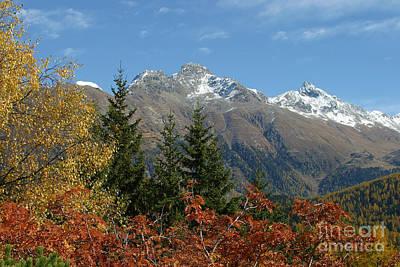 Fall In St. Moritz Poster