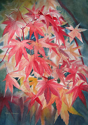 Fall Maple Leaves Poster by Sharon Freeman