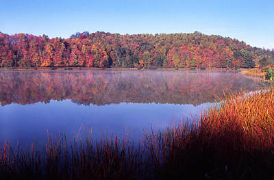 Fall Morning On The Lake Poster by Thomas R Fletcher