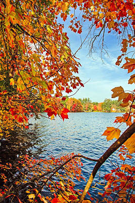 Fall On Lake Opechee Poster