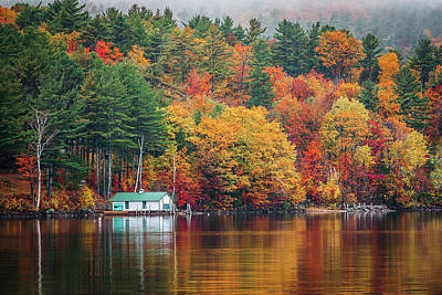 Fall On Lake Winnipesaukee Poster