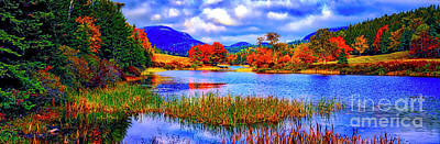 Fall On Long Pond Acadia National Park Maine  Poster