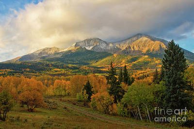 Fall On Mt Sopris  Poster