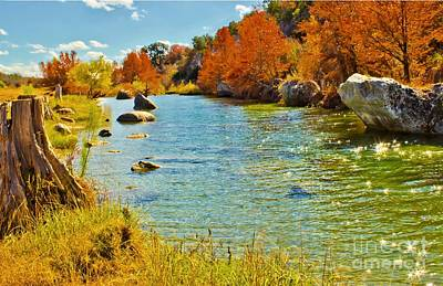 Fall On The Medina River Poster