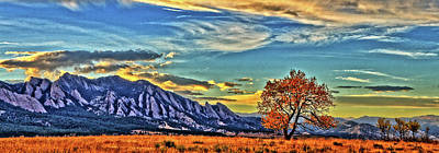 Poster featuring the photograph Fall Over The Flatirons by Scott Mahon