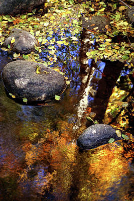 Fall Reflections Ashland Creek Poster by Jim Nelson