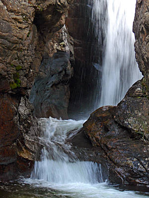 Fall River Road Waterfall Poster
