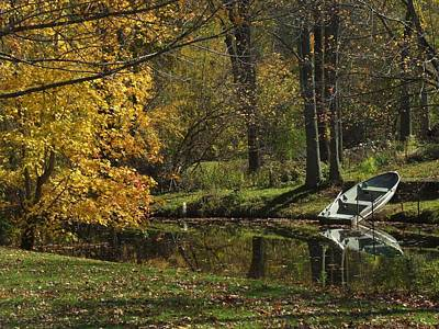 Fall Rowboat Poster by Michael L Kimble