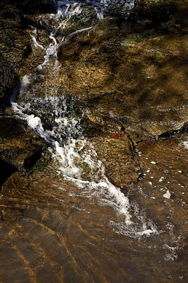 Poster featuring the photograph Fall Runoff At Broadwater Falls by Michael Dougherty