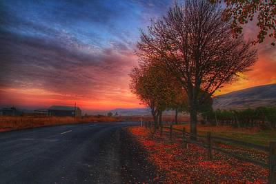 Fall Sunrise Poster