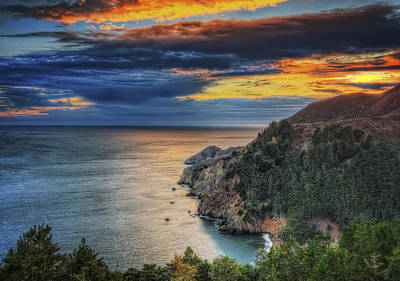 Fall Sunset At Marin Headlands - Marin County Poster by Jennifer Rondinelli Reilly - Fine Art Photography