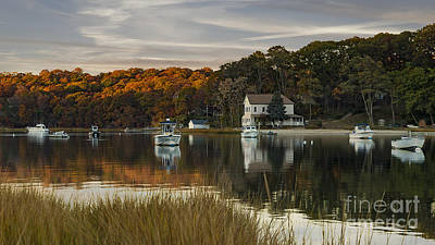 Fall Sunset In Centerport  Poster