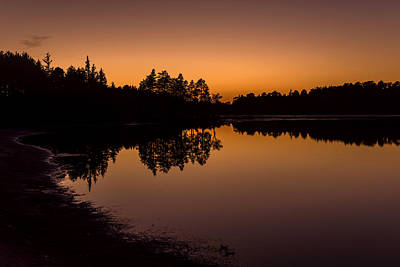 Fall Sunset Lake Horicon Nj  Poster by Terry DeLuco