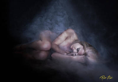 Poster featuring the photograph Fallen Figure In The Fog by Rikk Flohr