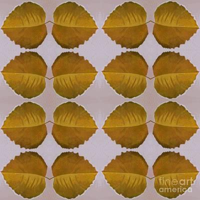 Fallen Leaves Arrangement In Yellow Poster by Helena Tiainen