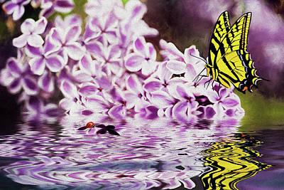 Fallen Lilacs Poster by Diane Schuster
