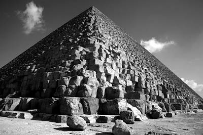 Fallen Stones At The Pyramid Poster