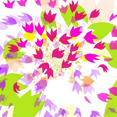 Poster featuring the digital art Falling Leaves by Barbara Moignard