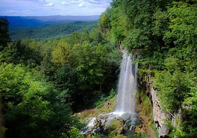 Falling Spring Waterfall Poster