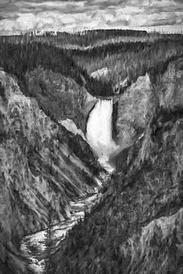 Falling Yellowstone IIi Poster by Jon Glaser