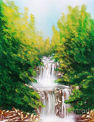 Poster featuring the painting Falls 04 by Greg Moores