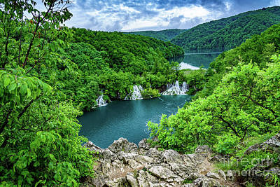 Falls From Above - Plitvice Lakes National Park, Croatia Poster