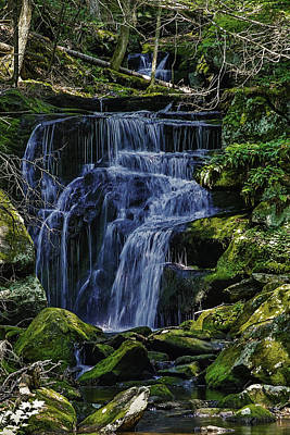 Falls In Vermont Mountain Stream  Poster