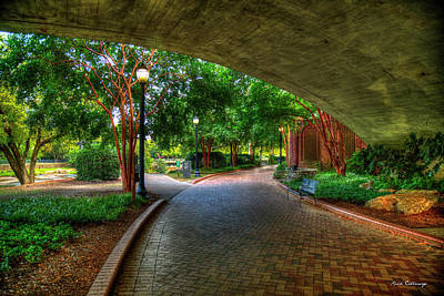Come Walk With Me Falls Park Reedy River Greenville South Carolina Art Poster