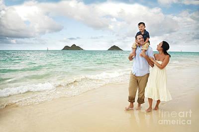 Family At Lanikai I Poster by Brandon Tabiolo - Printscapes