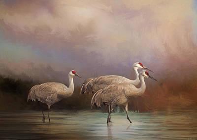 Family - Bird Art Poster by Jordan Blackstone