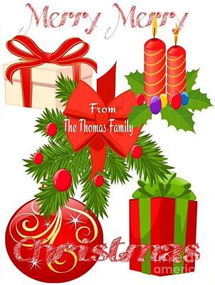 Family Christmas Greeting Poster by Gayle Price Thomas