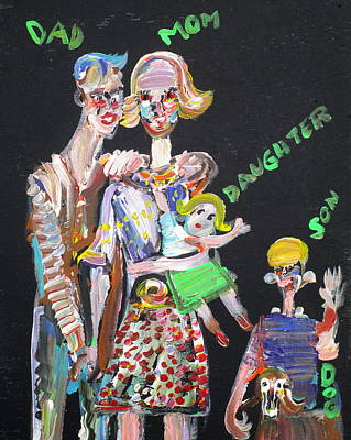 Poster featuring the painting Family Day by Fabrizio Cassetta