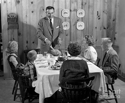 Family Dinner, C.1950s Poster by H. Armstrong Roberts/ClassicStock