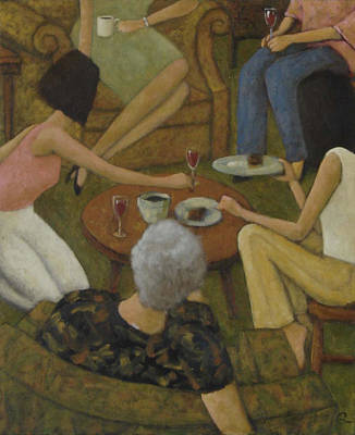Poster featuring the painting Family Gathering by Glenn Quist