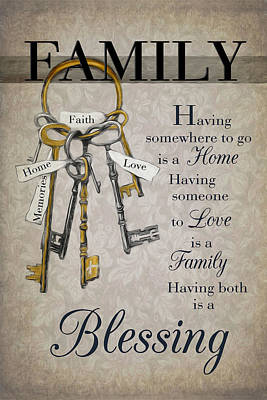 Poster featuring the photograph Family Is A Blessing by Robin-Lee Vieira