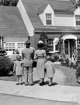 Family Looking At House, C.1940s Poster by H. Armstrong Roberts/ClassicStock
