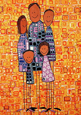 Poster featuring the painting Family Portrait by Donna Howard