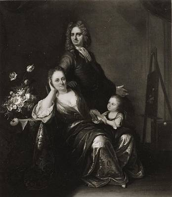 Family Portrait With Flower Still Life Poster by Juriaen Pool