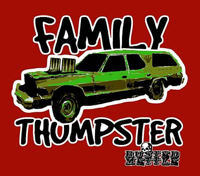 Family Thumpster Poster by George Randolph Miller
