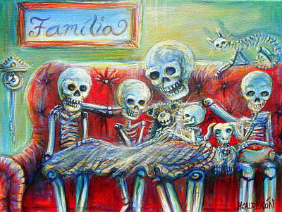 Poster featuring the painting Family Time by Heather Calderon