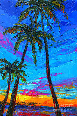 Family Tree - Modern Impressionistic Landscape Palette Knife Oil Painting Poster by Patricia Awapara