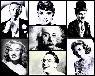 Famous Faces Poster by Esoterica Art Agency