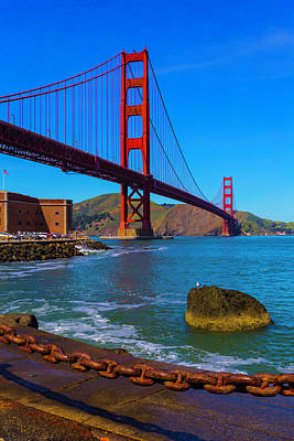 Famous Golden Gate Bridge Poster by Garry Gay