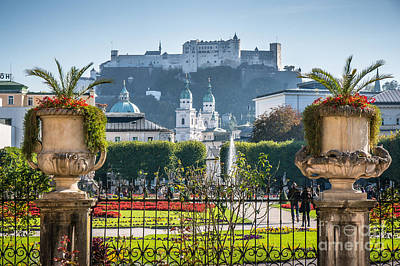 Famous Mirabell Gardens In Salzburg Poster by JR Photography