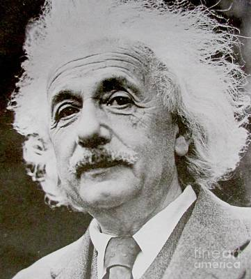 Famous Photograph Of Albert Einstein  Poster by Pd