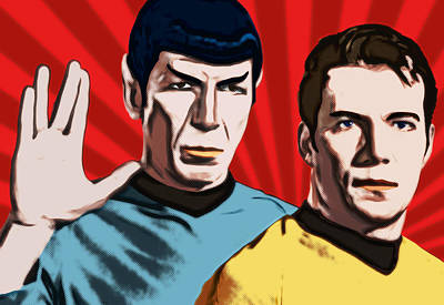 Famous Spock And Kirk Poster by Tobias Woelki