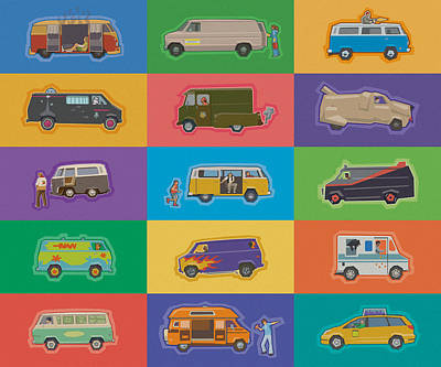 Famous Vans Poster by Mitch Frey